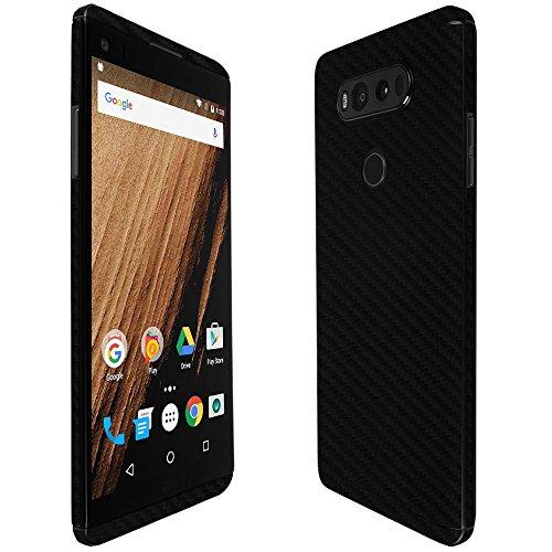 Skinomi TechSkin - LG V20 Screen Protector + Carbon Fiber Full Body Skin / Front & Back Wrap Clear Film / Ultra HD and Anti-Bubble Shield (Skinomi Carbon compare prices)