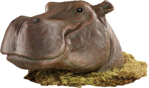 Hippopotamus Garden Statue