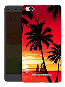 """Humor Gang Sunset And Coconut Trees Printed Designer Mobile Back Cover For """"Xiaomi Redmi Mi 4C"""" (3D, Matte, Premium Quality Snap On Case)"""