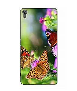 Make My Print Butterfly Printed Multicolor Hard Back Cover For Sony Xperia XA Ultra Dual
