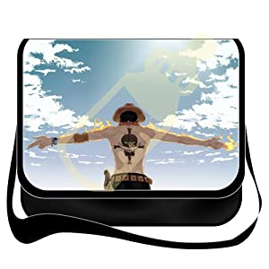 Shoulder Bag with Japanese Anime One Piece Ace Removable/renewable/replaceable Cover
