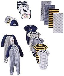 Gerber Baby-Boys Newborn Sports 19 Piece Essentials Gift Set, Sports, New Born