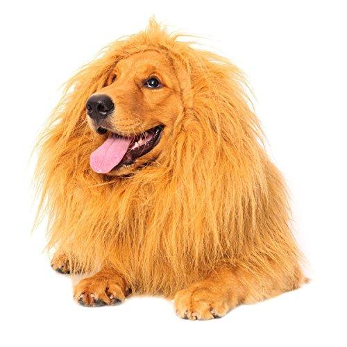 Bassion Large Pet Lion Wigs Mane Hair Scarf Party Fancy Dress Clothes Dog Costume