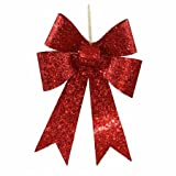 Vickerman 12'' Red Sequin Bow 4/Bag M136303