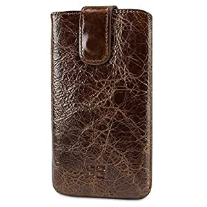 Bouletta Leather Phone Case for Samsung Galaxy S5 [MultiCase Vessel Brown]