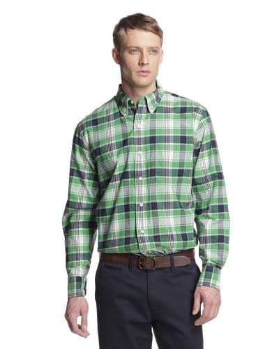 IZOD Men's Plaid Button-Up