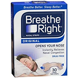 BREATHE RIGHT NASAL STRIPS,TAN,LARGE, 30 CT