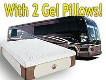 Hot Sale DynastyMattress New Cool Breeze 12-Inch GEL Memory Foam Mattress for RV, Camper-Short Queen Size
