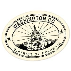 Washington DC travel vinyl window bumper suitcase sticker 5 in x 4 in