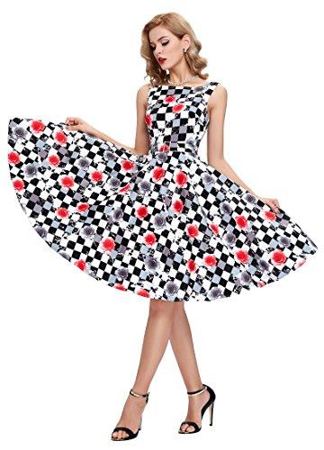 Belle poque 50er jahre rockabilly kleid vintage kleid for Rockabilly kleidung damen