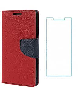 Mercury Winchip Flip Cover For Samsung Galaxy Grand 2 N7106 With Screen Guard - Red