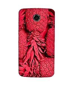 Red Pineapple Back Cover Case for Motorola Nexus 6