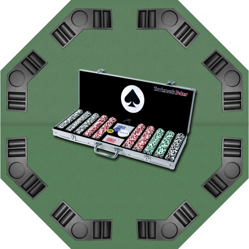 Trademark Poker 4 Aces Chips with Aluminum Case and Tabletop Super Set, 11.5gm
