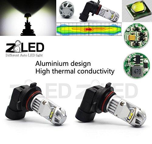 Z8 2Pcs 9006 Fog Light Hb4 20W Cool 6000K 320° Cree Chip White High Power Auto Led 12V Drl Fog Light Led Lamp Z8Led White#10G9006W