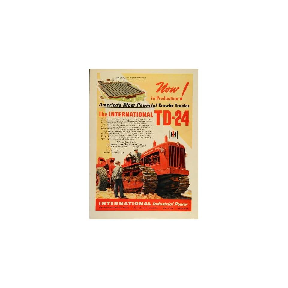 1948 Ad International Diesel Crawler Tractor TD 2 Plant   Original Print Ad