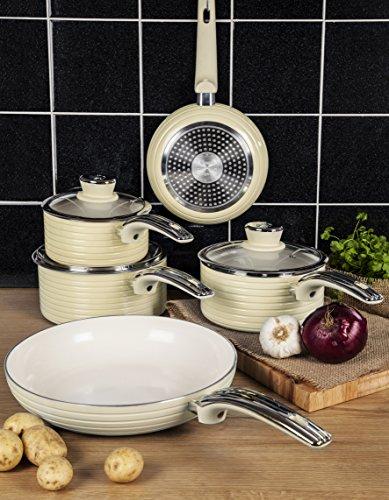 Swan Retro 5 Piece Pan Set The British Kitchen Company