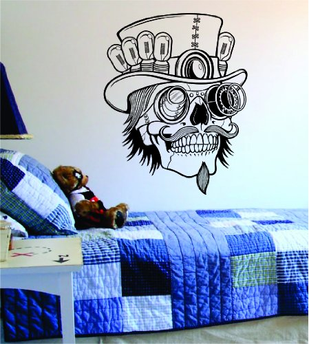 Steampunk Skull Decal Sticker Wall Vinyl Day of the Dead