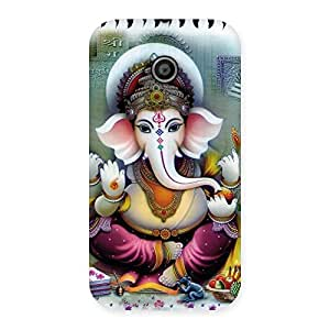 Cute Ganesha Blessings Back Case Cover for Moto E