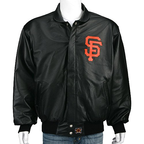 San Francisco Giants Leather Script Jacket Sports