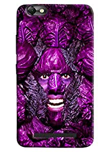 Omnam Man In Purple Printed Designer Back Cover Case For Lenovo Vibe C (A2020)