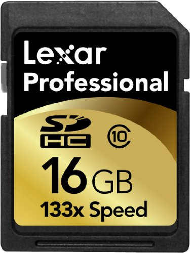 Lexar LSD16GCRBNA133 Professional 133x 16GB SDHC Memory Card