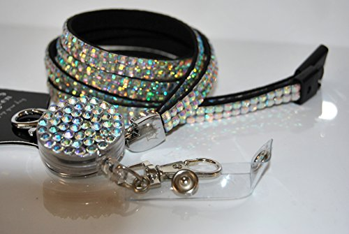 lanyard-queen-custom-made-safety-breakaway-rhinestone-49cm-lanyard-with-matching-yo-yo-retractable-r