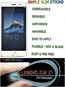 0.2mm UNBREAKABLE Reusable TEMPERED GLASS SCREEN PROTECTOR Film Guard Lenovo Zuk Z1 - PS FORTUNET