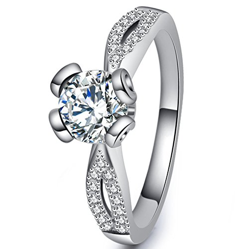 Best Promise Rings for Her Women's Eternity Solitare Wedding Engagement Rings Vintage Ciss Cross CZ Stone Fashion Jewelry for Christmas Gift Size 10 (Brother Ciss compare prices)