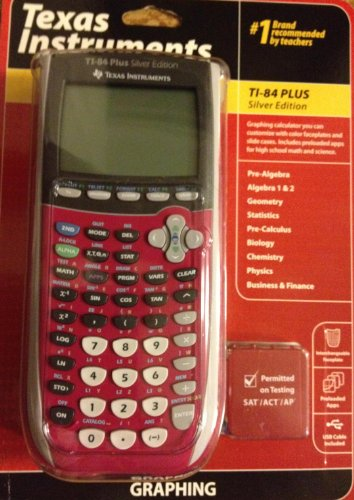 Texas Instruments TI 84 Plus Silver Edition Graphing Calculator PinkPACKING MAY