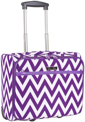 Ever Moda Purple Chevron Rolling Wheeled Laptop Case
