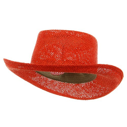 16a4f55b Mens Straw Sun Hat: New Gambler Straw Hats-Orange W35S18C