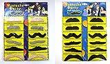 【la select】付け髭 つけひげ 『2種類』[Ver.2]『色違い』ヒゲ 宴会 オシャレ小物【黒+カラー12個セット】