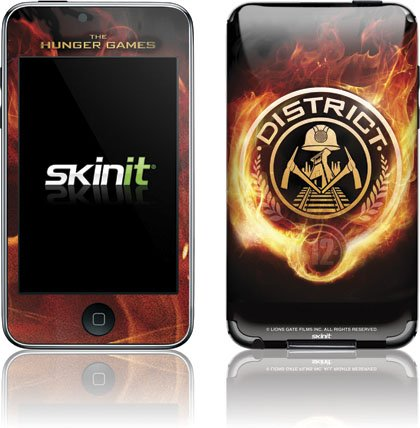 Skinit The Hunger Games -District 12 Logo on Fire Vinyl Skin for iPod Touch (2nd & 3rd Gen)