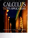 Sm Calculus Applications I/M (0133987515) by Goldstein