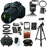 Nikon D5300 24.2 MP CMOS Digital SLR Camera with 18-140mm f 3.5-5.6G ED VR AF-S DX NIKKOR Zoom Lens (Black) + Automatic TTL Flas
