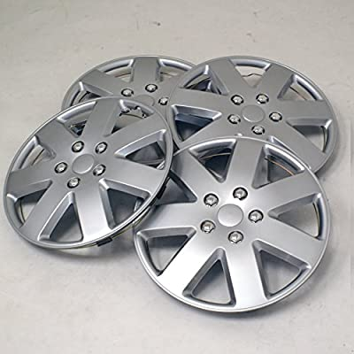 TuningPros WSC2-058S16 Hubcaps Wheel Skin Cover Type 2 16-Inches Silver Set of 4