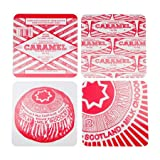 Tunnock's Teacake & Caramel Wafer Biscuit Set of 4 Placemats by Gillian Kyle