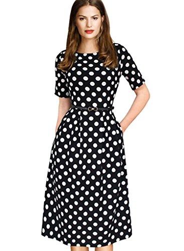 VfEmage-Womens-Vintage-Summer-Polka-Dot-Wear-To-Work-Casual-A-line-Dress