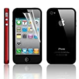 KingPower Tech® Bumper Case For Apple iPhone 4S/4 With Free Screen Protector & Cloth - Red/Black