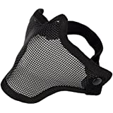 Often(TM) Half Face Metal Net Mesh Protective Mask Outdoor Airsoft