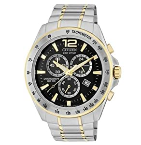 Clasic Shape Citizen Men's Two-Tone Eco-Drive Chronograph Bracelet Watch