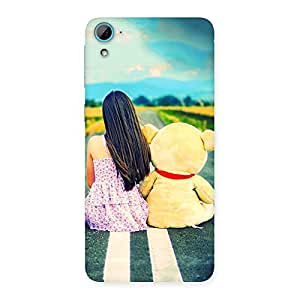Luxirious Teddy Girl Cute Multicolor Back Case Cover for HTC Desire 826