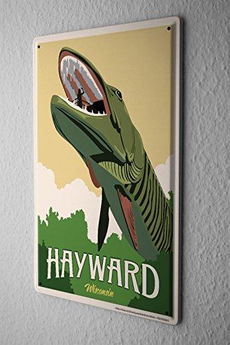 cartel-de-chapa-placa-metal-tin-sign-gira-mundial-hayward-wisconsin-hai-letrero-de-metal-20x30-cm
