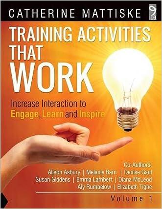 Training Activities That Work Volume 1