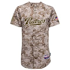 San Diego Padres Digital Camo Authentic Cool Base Jersey by Majestic by Majestic