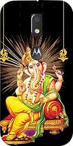 Dot Print Ganesh Bhagvan Printed Back Cover For Moto E3