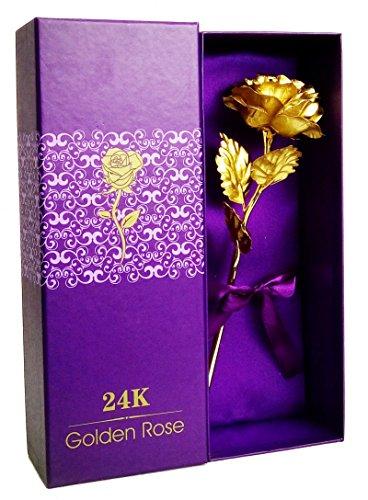 tenew-golden-color-plastic-foil-rose-with-acrylic-base-vase-giftbox-purple