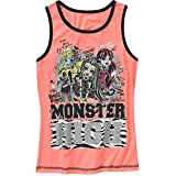 Monster High Girls Big Girls Xs - L Racer Back Rib Tank Top