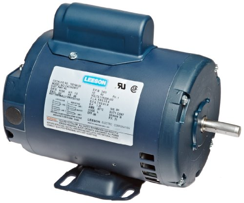 Leeson 100184.00 General Purpose Odp Motor, 1 Phase, 48 Frame, Rigid Mounting, 1/2Hp, 3600 Rpm, 115/208-230V Voltage, 60Hz Fequency