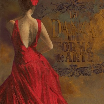 Red Flamenco Dance Poster